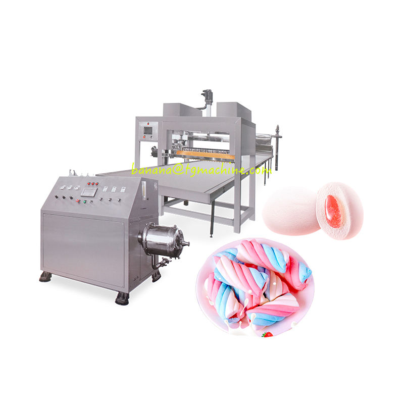 Ice cream marshmallow machine jam filling marshmallow cotton candy production line