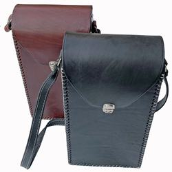 Argentine Handmade leather shoulder bag for Stanley thermos and matte