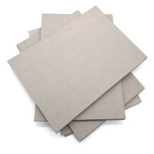Foldable two side gray paper chipboard sheet for book / box