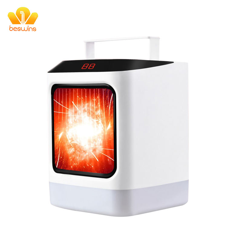 PTC Portable FCC battery powered recirculating leafless heater