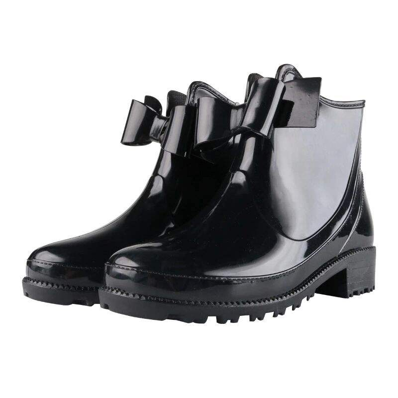 Ladies High Quality Fashion Water Proof Dust-Proof Rubber Garden Shoes Chelsea Ankle Rain Boot