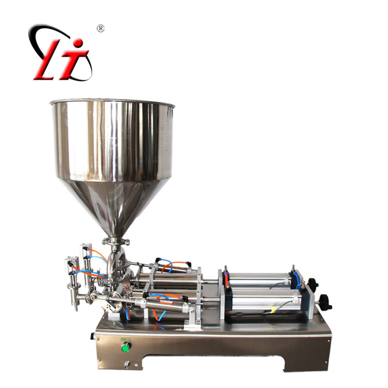 safe hot chocolate honey cream juice sauce jam filler paste filling machine,pneumatic piston filler with heating hopper