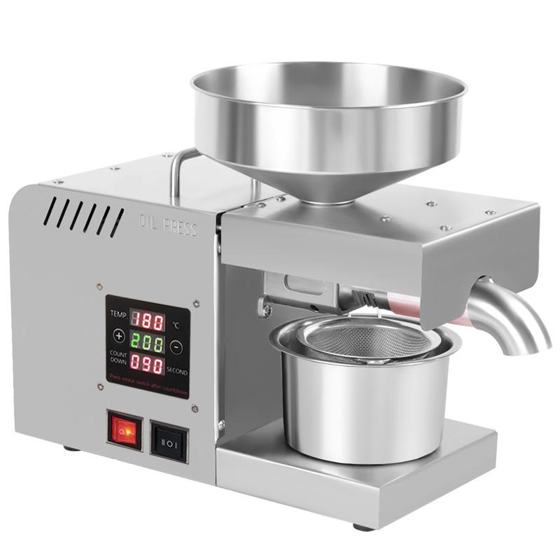 Food Grade Stainless Steel Cold Press Healthy Oil Seeds Pressers Press Machine For Small Business