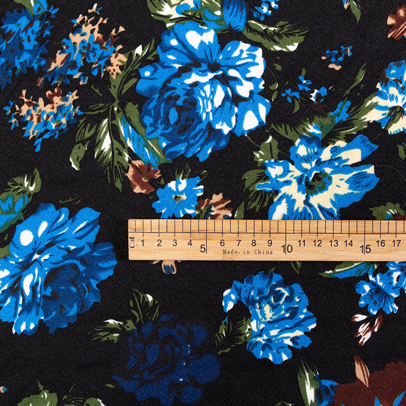 Shirt Fabric 50 Polyester 50 Cotton Polyester Spandex Recycled Fabric Custom Printing