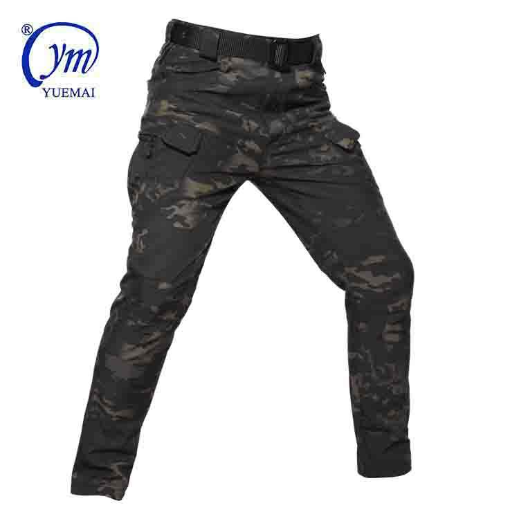 Men IX7 Outdoor Winter Tactical Windproof Waterproof Fleece Pants Military Army Long Trousers