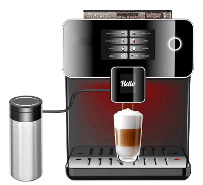 A10 coffee machine automatic touch, stainless steel drip coffee machine/