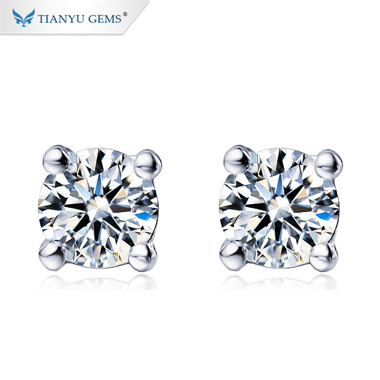 Colorful Earrings Wholesale Moissanite Vs Lab Created Diamonds White G Color Moissanite Earrings Shop Moissanite Jewelry