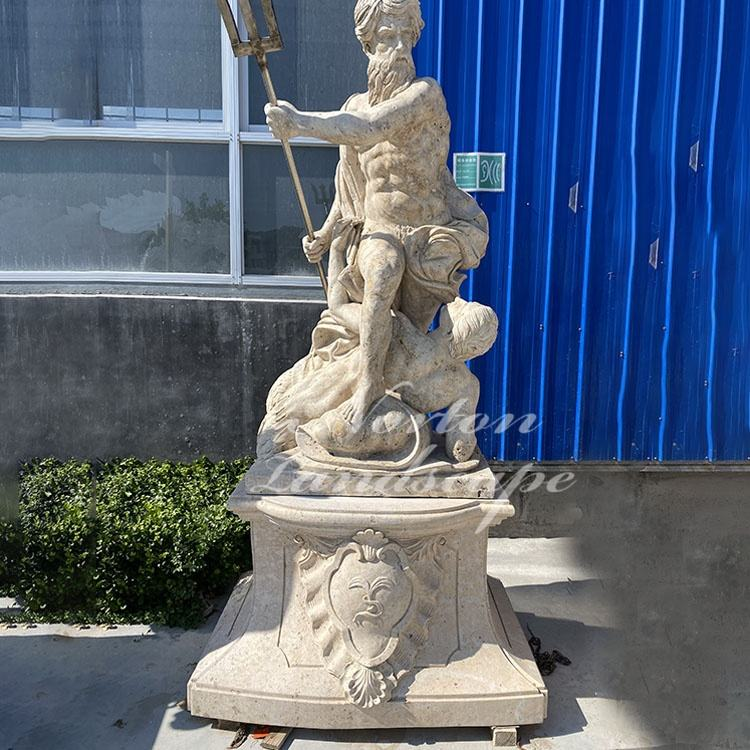 Famous Marble Greek Mythological Figure Sculpture Antique Life Size Greek Gods Poseidon Statues For Sale