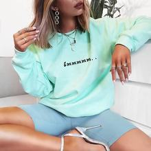 2019 New Fashion Custom Women Plain Oversize Crewneck Sweatshirt
