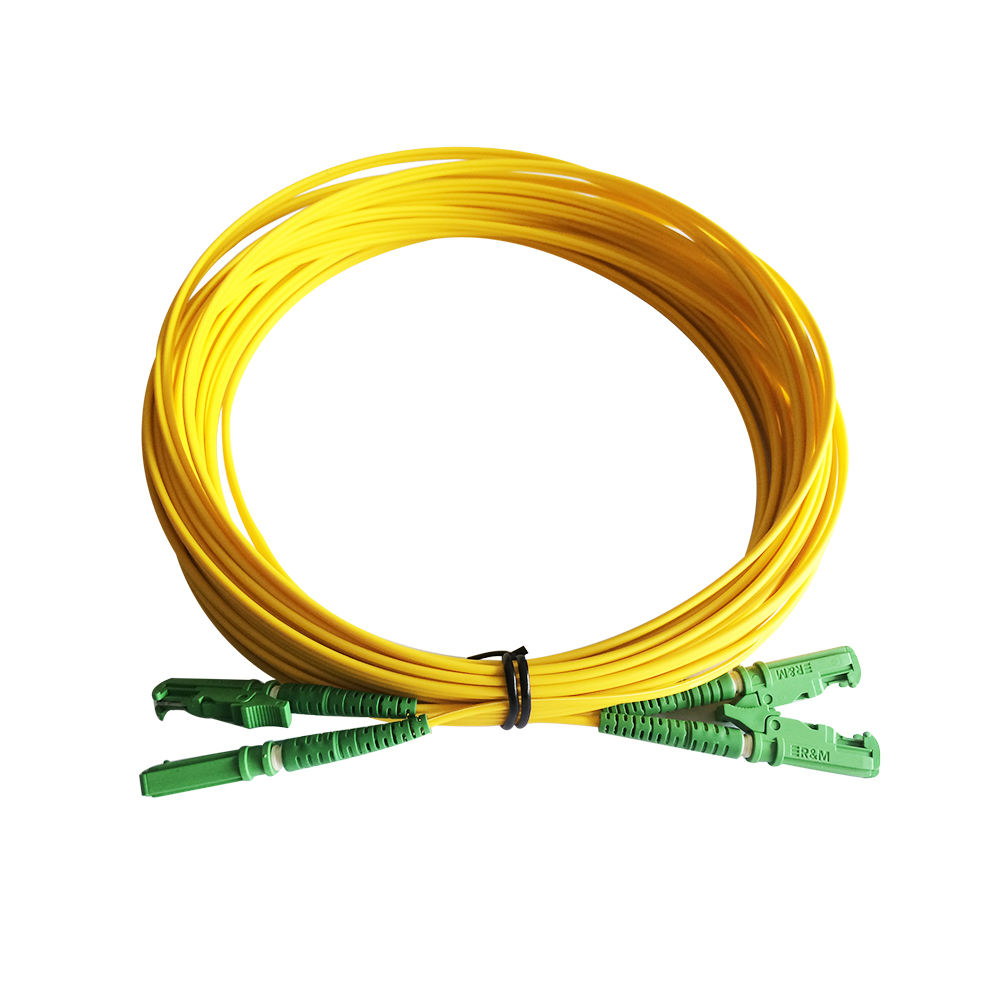 Factory price E2000 Low Loss g657a Singlemode 9/125 2.0mm 3.0mm duplex OFNP LSZH jacket optical fiber cable supplier