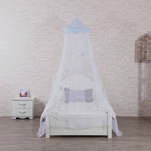 New Release Blue Stars Conical Bed Canopy Baby Kids Boys Home Mosquito Net