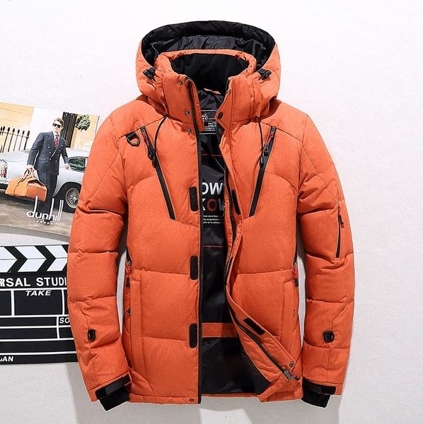Extremely High Quality Mens Thick Warm Duck Down Jacket Snow Parka Coat