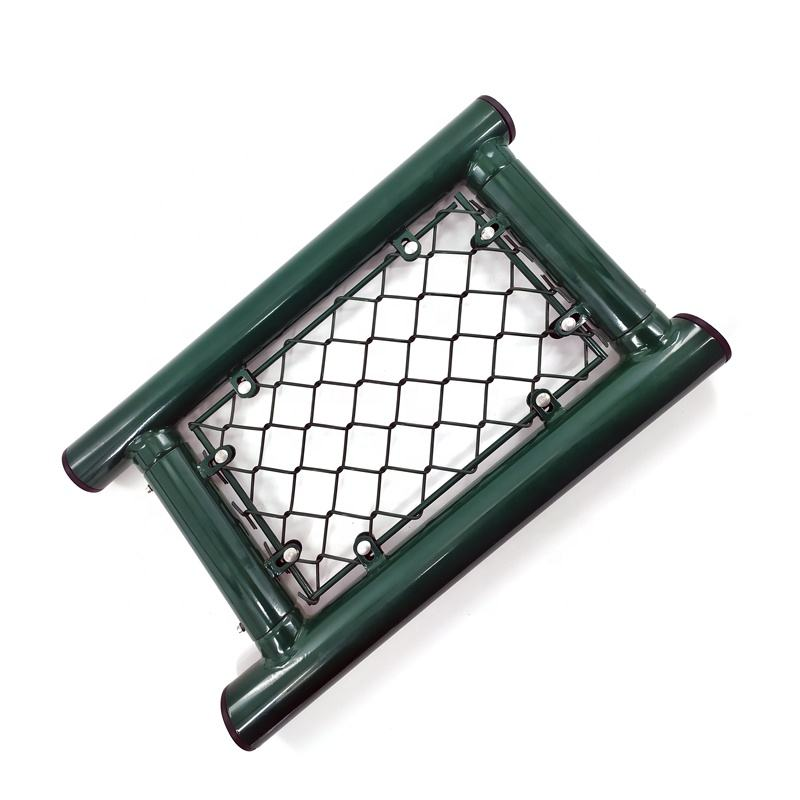 Galvanized Playground Fence Decorative Chain Link Fence Gates