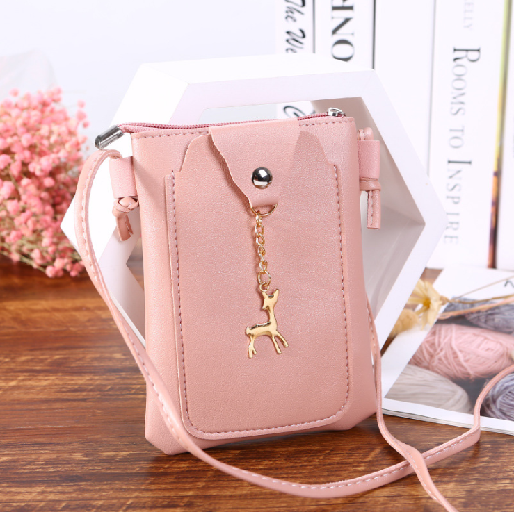 Classic cell phone wallets leather woman shoulder bag mini purse clutch ladies handbag straps bag card holders