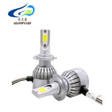 COB LED H7 H1 H4 H3 H11 H8 9005 9006 C6 Headlight Bulbs 36W Headlamp Light C6 Car HeadLight 6000K Auto Led lamp