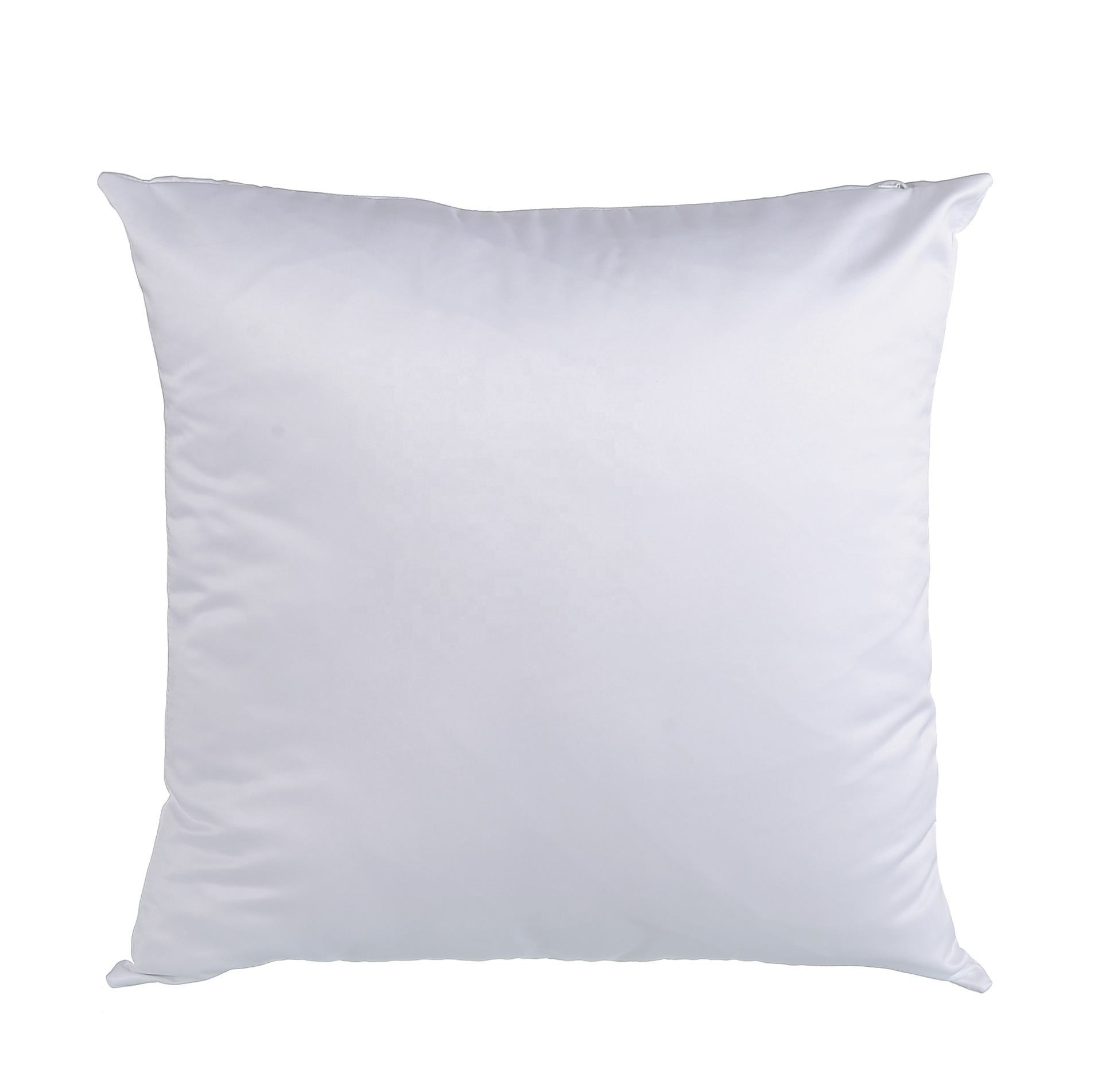 P-03 Hot Selling 40x40cm Custom Pillow Case Satin Sublimation Polyester Pillows Covers Full-White Pillow Case