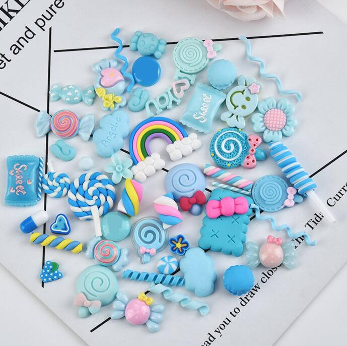 PVC Candy simulation Accessories Cartoon charm pendant 3D resin food promotional gifts