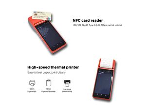 Smart Restaurant Touchscreen NFC Android Handheld POS Systeme mit Thermische Drucker R330-B