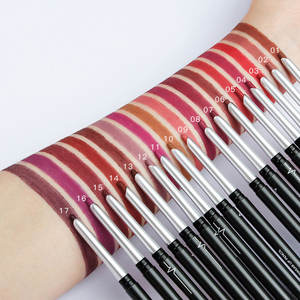 17 Màu Kem Màu Hữu Cơ Lip Liner Set Eye Shadow Eyeliner Son Môi Lip Pencil