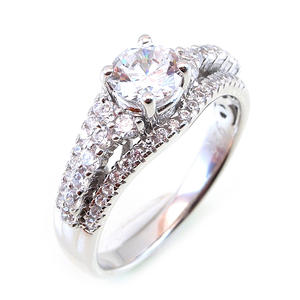 KENTURAY women 925 silver china jewelry wholesale cz marriage ring