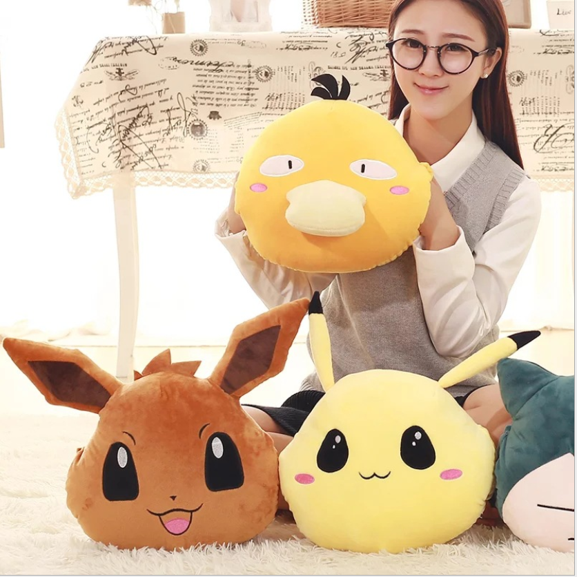 Custom Anime Pokemon Print Cartoon Soft Plush Toy Throw Bed Sofa Cushion Pillow For Home Decor
