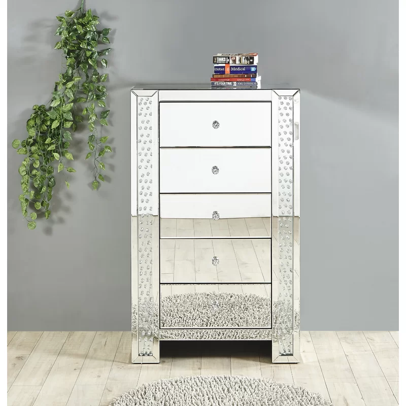 Nordic light luxe spiegel versieren kristal commode ark