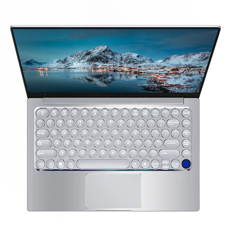 China Originele Smalle Bezel laptop 14 Inch mini metalen Notebook met DDR4 3867U Ronde backlit Toetsenbord Anti Blu-Ray