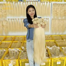 KBL cheap raw human 613 virgin russian blonde hair bundles,613 human hair weave extensions blonde,613 cuticle aligned hair human