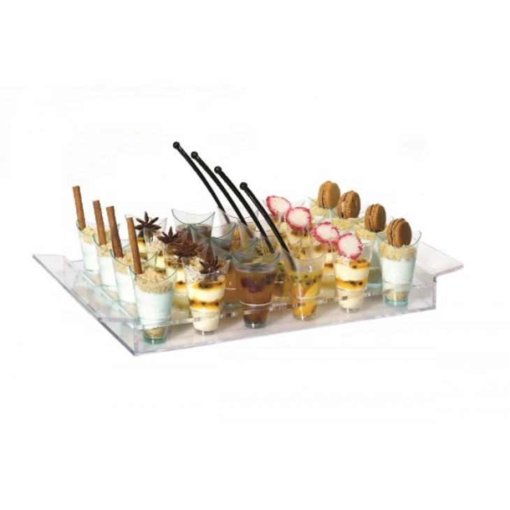 Clear twist acrylic tray serving/tray serving food
