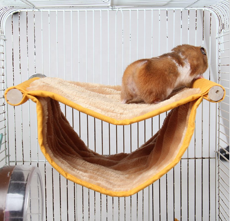 Small Animals Plush Hammock Hamster Hanging House Cage Sleeping Nest Cage Swing Pet Glide Hammock