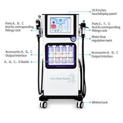 2019 Multi-Functional Beauty Equipment 7 in 1 Ultrasonic RF BIO Hydra Co2oxygen Hydrofacials Machine for Sale