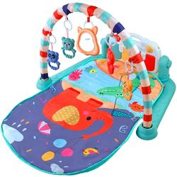 Baby Play Mat Kick and Play Piano Activity Gym with Music Lights and Animals Toys Baby Playmat Gift for New Born Toddlers Infant