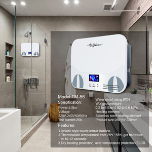 220V 3500-5500w tankless instantaneous electric water heater hot water heaters electric