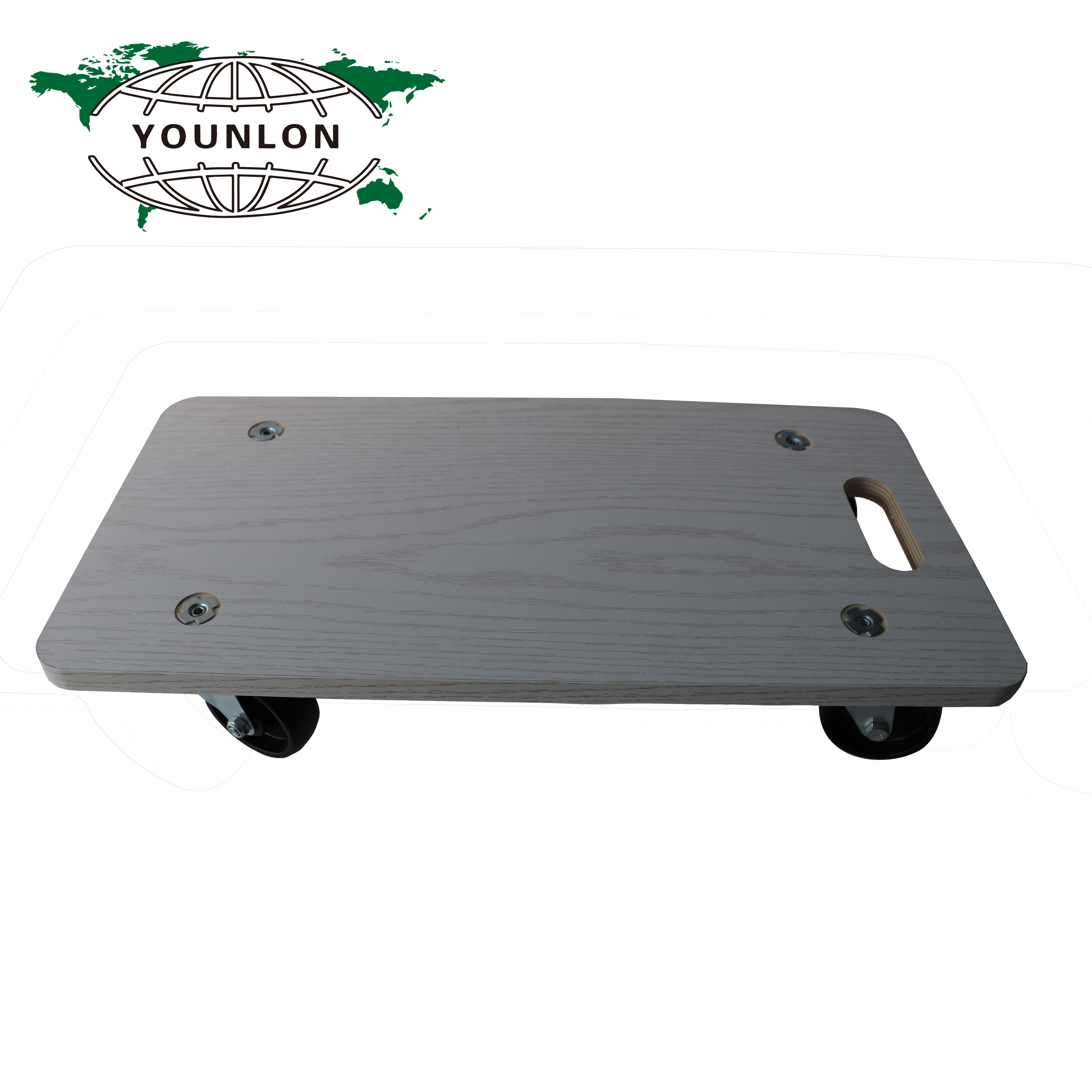 Rectangular casa Trolley Dolly Carro con 4 PP negro ruedas