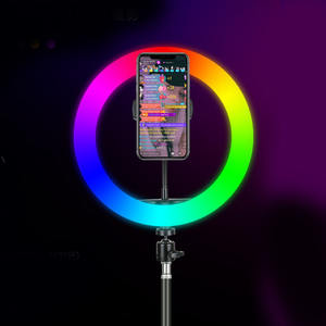 2020 New 10 Inch RGB Photography Lighting Dimmable Led Rgb Colorful Selfie Ring Light With Tripod Stand