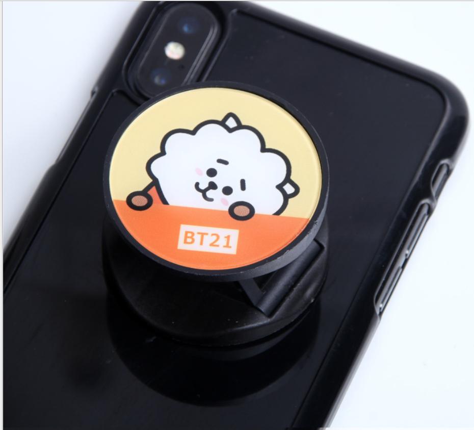 Creativo epoxi pequeña oveja caliente nuevo perezoso telescópico soporte de teléfono