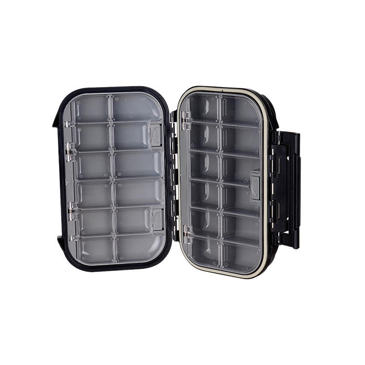 Wholesale compartments fly fishing terminal tackle 100% waterproof fly box 09A-H027 B01