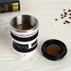 14oz Promotional Travel Thermos Photographer SLR Camera Lens Coffee Mug