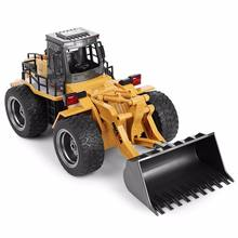 Huina 1520 2.4G 1:18 6CH Charging Metal RC Excavator Remote Control Car truck toy