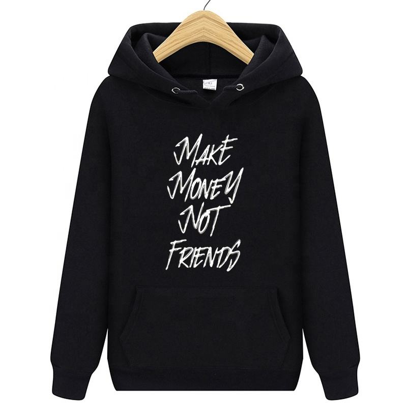 Winter Pullover Sweatshirts Women Make Money Not Friend Mujer Kangaroo Pocket Hoodie School Korean Streetwear Oversized Hoodie