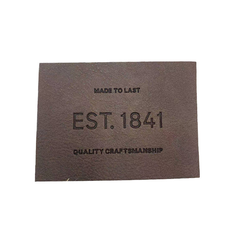 Factory Customized Private Label Leather Garment Labels Good Quality Packaging Labels