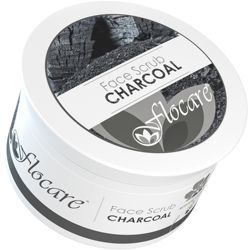 Flocare Activated Charcoal Face Scrub 200ml - Primary