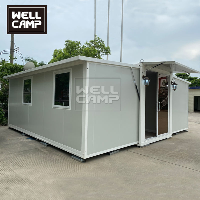 Easy assemble 20ft expandable container house holiday prefab villa prefab cabins for sale
