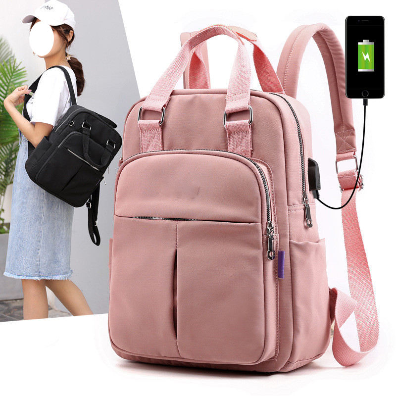 Travel Women Fashion Backpack with USB Charging Port