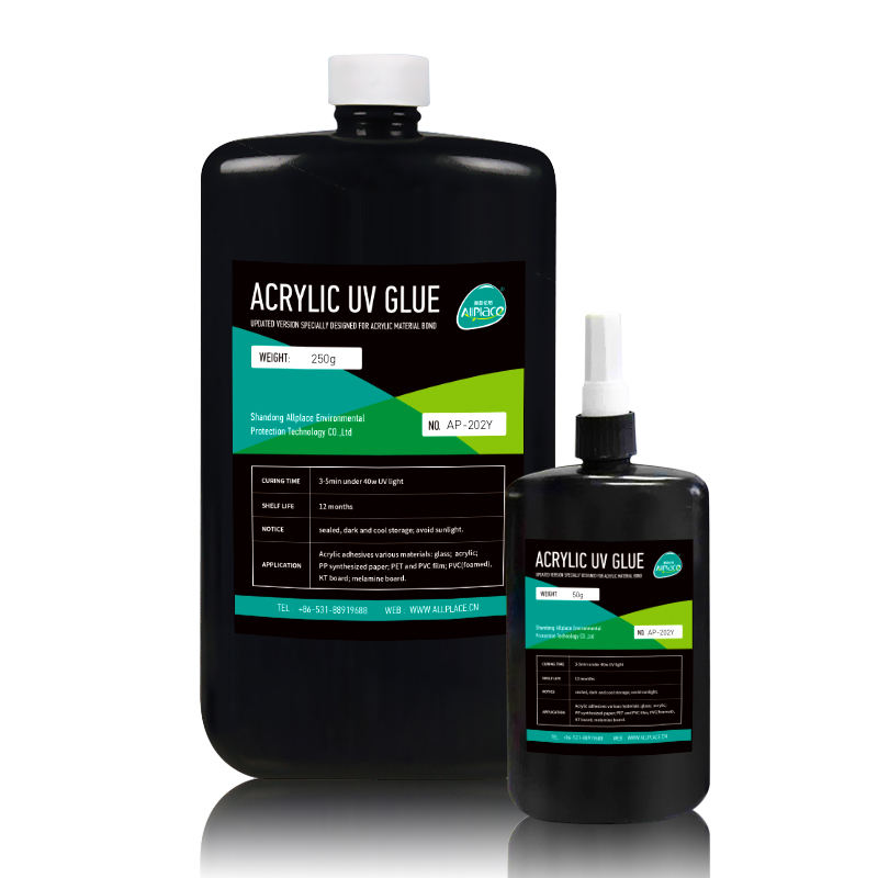 Allplace acrylic uv chemicals adhesive resin/glue PVC/PET film adhesive 202Y
