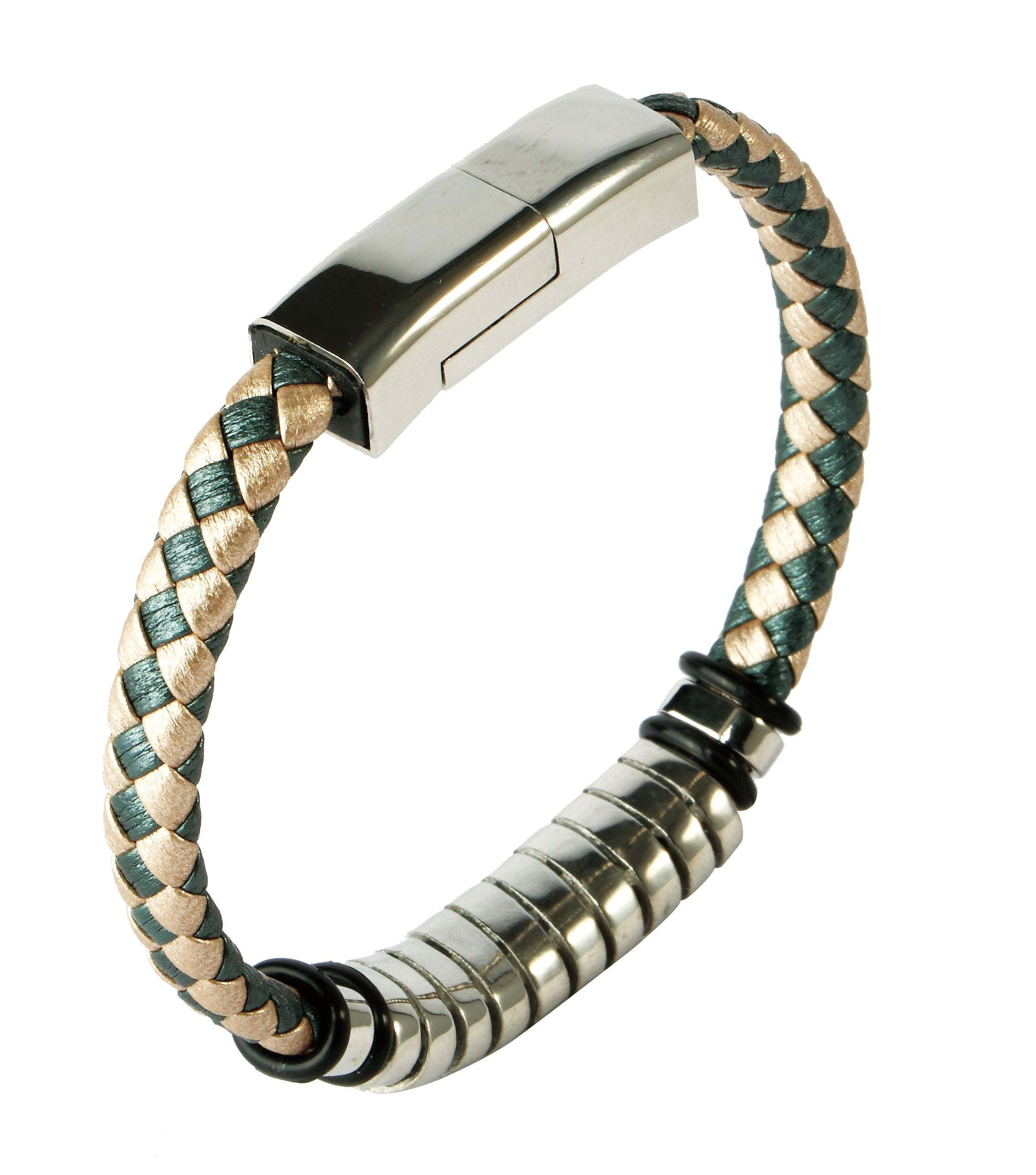 New Design Multi-function Fancy Jewelry USB Cable Design Male Stainless Steel Man Bracelet