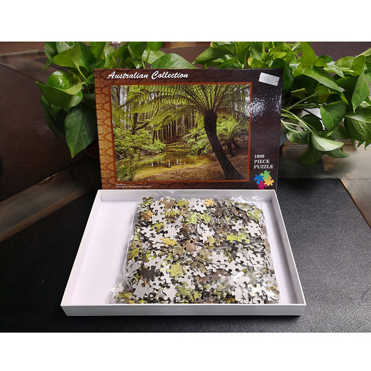 Personalize Impressão Adulto 1000 Pcs Plain Custom 1000 Piece Jigsaw Puzzle
