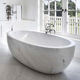 simple style factory price manufacturer in china carrara marble bathtub BTA-02