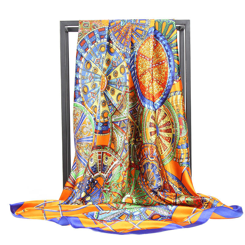 Foreign trade new silk scarves women 90 * 90cm square scarves popular in Southeast Asia Muslim scarf