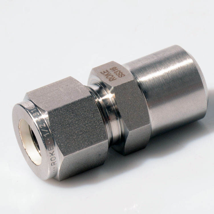 SS316 Stainless Steel Compression Double Ferrule Weld Union Tube Socket Weld/Pipe Butt Weld Connector